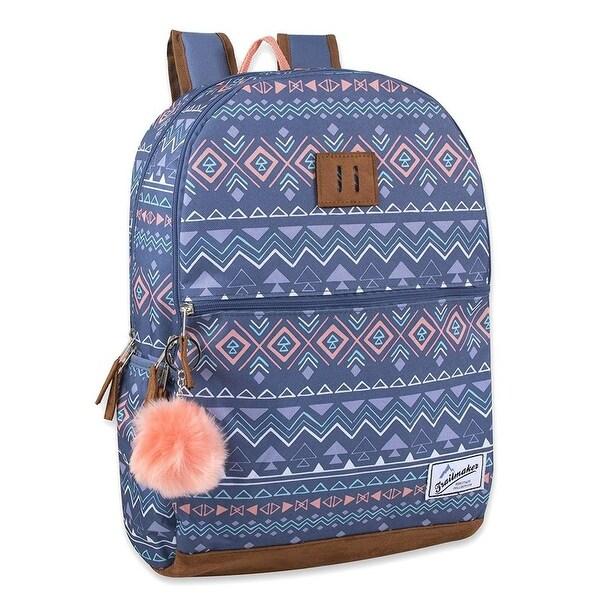 Trailmaker Girls Heritage Backpack with Pom-Pom Keychain - One size