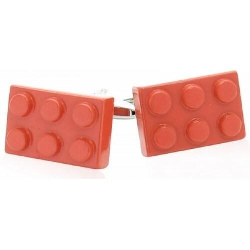 Red Building Block Lego Cufflinks