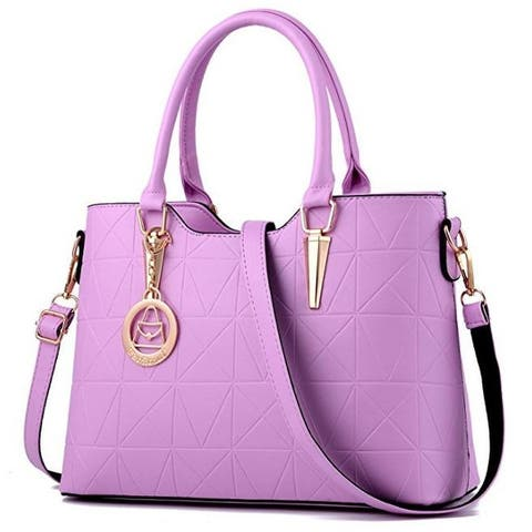 Handbag For Women Triangle Cone Casual Tote Bag Shoulder Bag Hardware Pendant Girls Crossbody Bag