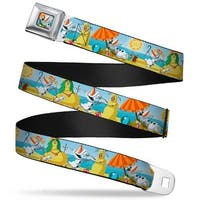 Olaf Tanning Pose Full Color Olaf Summertime Beach Scenes Webbing Seatbelt Seatbelt Belt