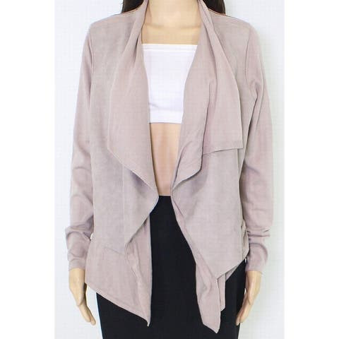 Sion Womens Sweater Mauve Beige Size Medium M Open-Front Cardigan