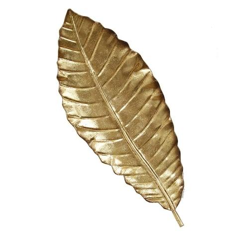 Gold Elegant Leaf Wall Decor