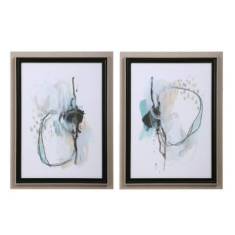 Uttermost Force Reaction Abstract Prints (Set of 2)