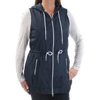 TOMMY HILFIGER Womens Navy Sleeveless V Neck Vest Top  Size: XS