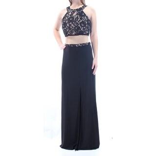 Womens Black Sleeveless FullLength Pencil Party Dress Size: 0