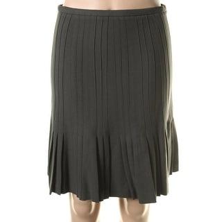 Catherine Malandrino Womens Twill Pleated Pencil Skirt - 4