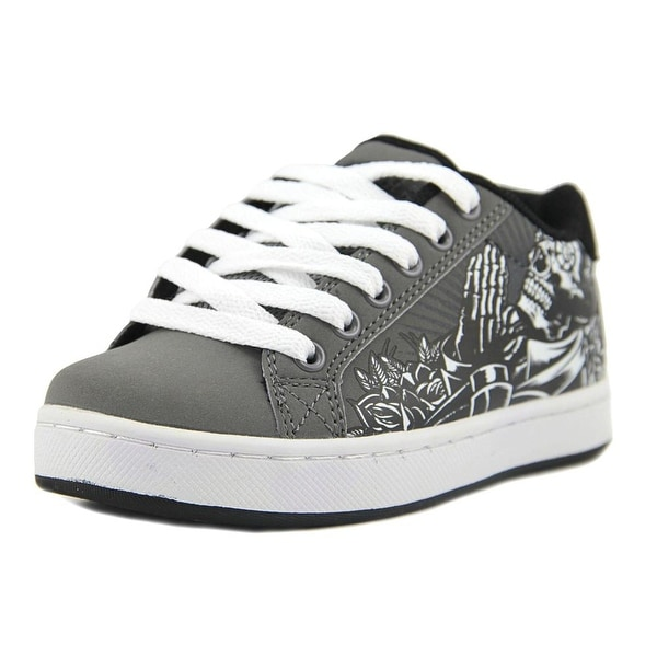 Osiris Troma Redux Youth Round Toe Synthetic Gray Skate Shoe