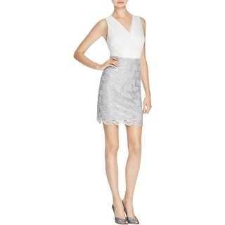 Laundry by Shelli Segal Womens Cocktail Dress Lace Surplice