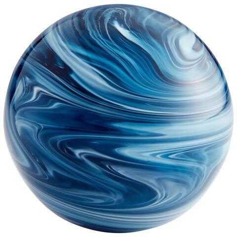 """Cyan Design 09639 Canica 4"""" Diameter Glass Decorative Sphere - Blue"""
