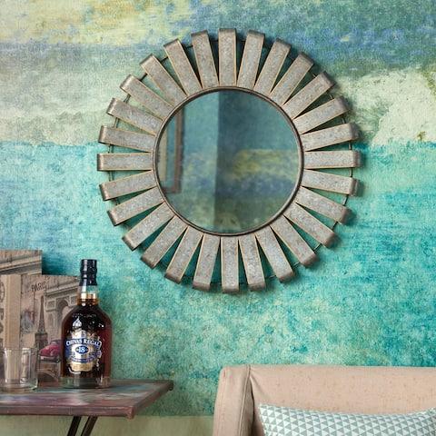 Metal Rustic Farmhouse Windmill Wall Accent Mirror