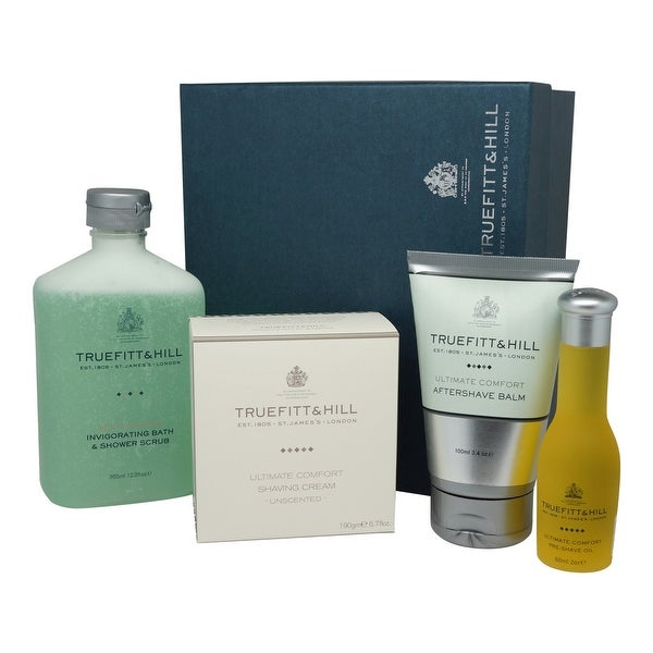Truefitt & Hill Comfort Gift Set: Cream Balm Oil Scrub