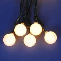 Set of 180 Warm Clear LED G20 Globe Christmas Lights - Green Wire