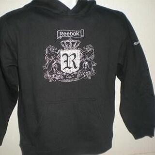 MENDED Reebok YOUTH Medium 10-12 Black Hoodie 46GB