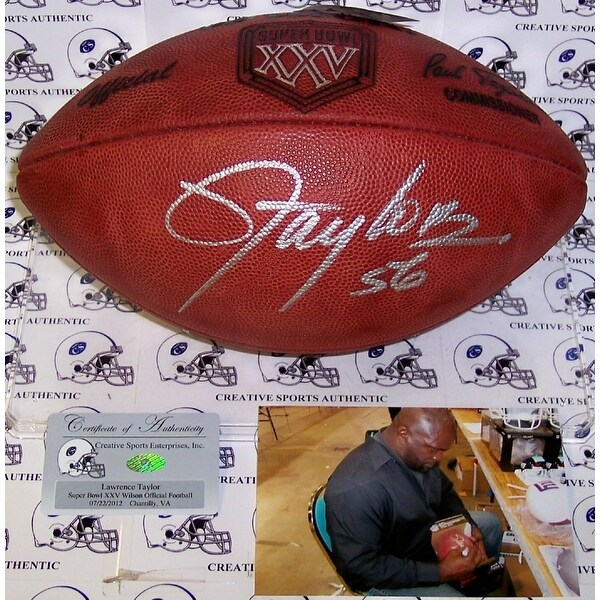 823c9fc86 Shop Lawrence Taylor Autographed Hand Signed Super Bowl 25 XXV Official NFL  Football PSADNA - Free Shipping Today - Overstock - 13482536