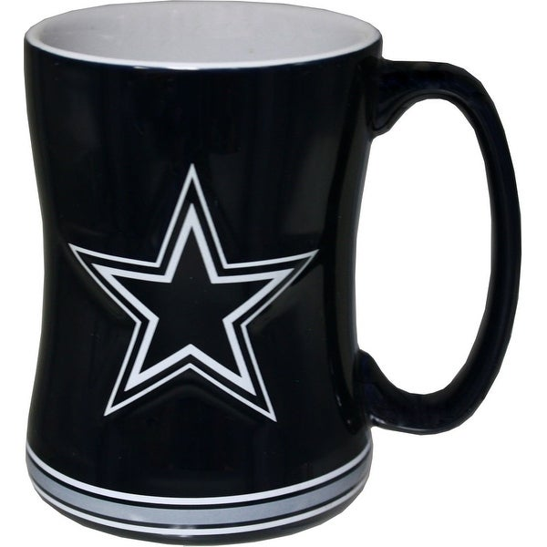 d575ebf2a Shop Dallas Cowboys 15 Ounce Sculpted Logo Relief Coffee Mug - Free  Shipping On Orders Over  45 - Overstock - 21690904