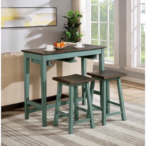 Furniture of America Flaros Transitional 3-piece Bar Table Set