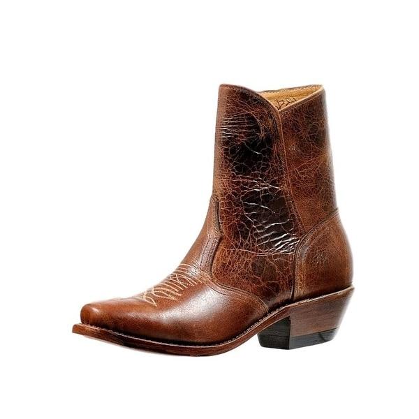 Boulet Western Boots Womens Ankle Side Zipper Cutter Puma Madera