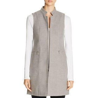 Calvin Klein Womens Vest Faux Wool Collar - 14