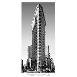 ''Flatiron Building'' by Henri Silberman New York Art Print (39.5 x 19.75 in.)