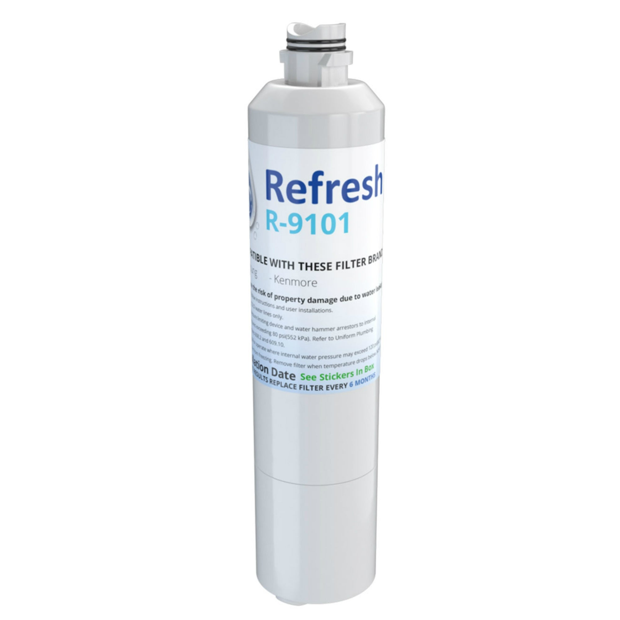 6 Pack Refresh Replacement Water Filter Fits Samsung RF263TEAESG Refrigerators