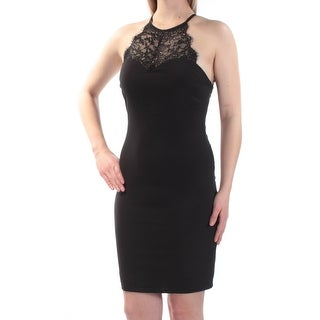Womens Black Sleeveless Above The Knee Body Con Formal Dress Size: 5