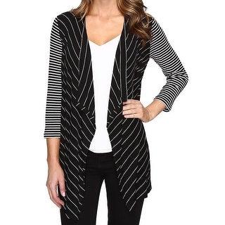 Calvin Klein NEW Black Women's Size Medium M Striped Cardigan Sweater