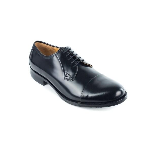 13decea14 Shop Bruno Magli Men's Black Maly Polished Leather Derbys Oxfords ...