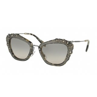 Miu Miu Noir Women's Sunglasses (Marble Black White Frame/Green Gradient Lenses)