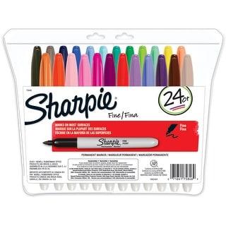 Sharpie Fine Point Permanent Markers 24/Pkg-Assorted Colors
