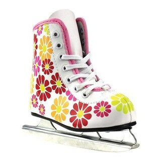 American Girls' 380 Flower Power Double Runner Ice Skate White