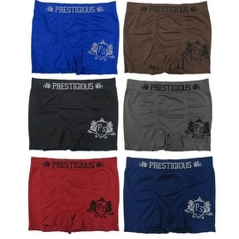 Men's 6-Pack Seamless Prestigious Print Boxer Briefs
