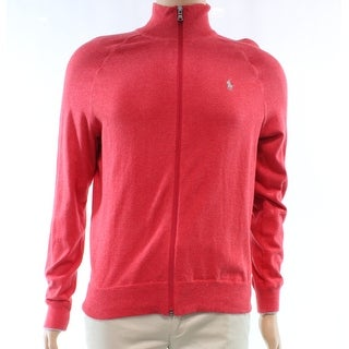 Polo Ralph Lauren Red Mens Size Small S Full Zip Solid Sweater