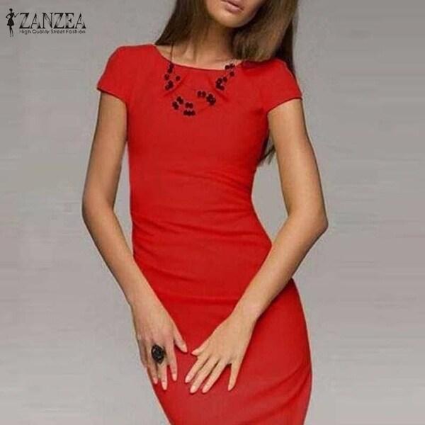 5e121c546d9d7 Shop 2018 Summer Dress Women Bodycon Office Party Dresses Short ...