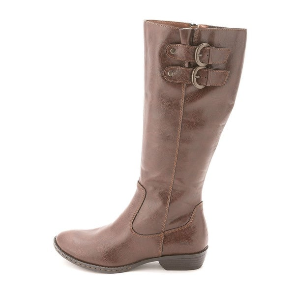 Born Womens SHARLENE Almond Toe Mid-Calf Fashion Boots