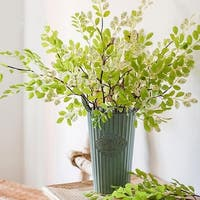 """G Home Collection Rustic Artificial Fresh Spring Leaf Stem 37"""" Tall"""