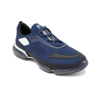 PRADA Men's Knit Fabric Cloudbust Sneaker Shoes Blue
