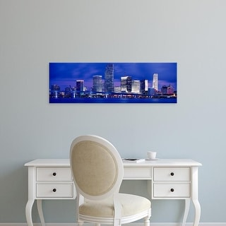 Easy Art Prints Panoramic Images's 'Miami, Florida, USA' Premium Canvas Art