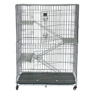 Link to Large Folding Collapsible Pet Cat Wire Cage Playpen Vacation Similar Items in Dog Houses & Pens
