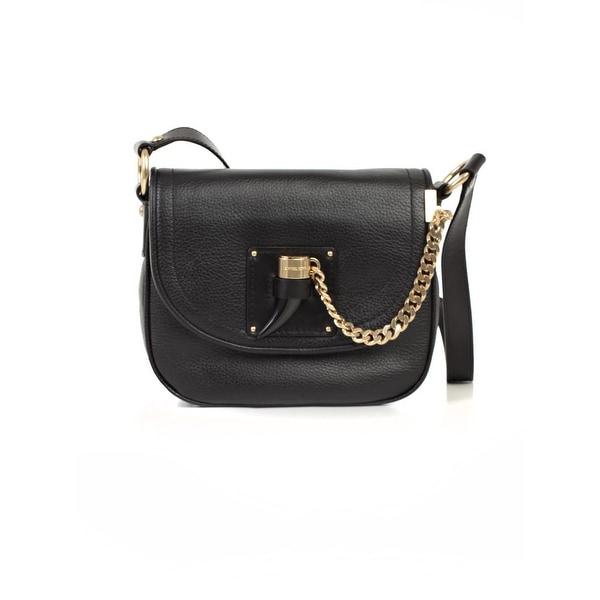 Michael Kors Womens James Saddle Handbag Leather Flap Medium