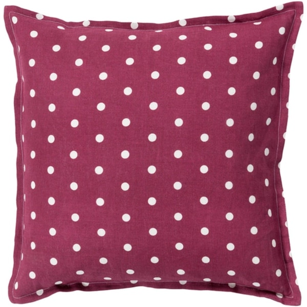 "20"" Rust Red and White Polka Dot Daze Decorative Throw Pillow Shell"