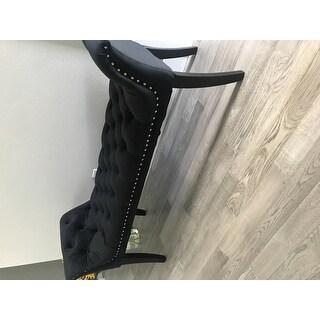 Glam Black Velvet Bench by Baxton Studio