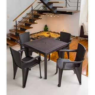 Link to MQ INFINITY Espresso 5-Piece Patio Dining Set Similar Items in Dining Room & Bar Furniture