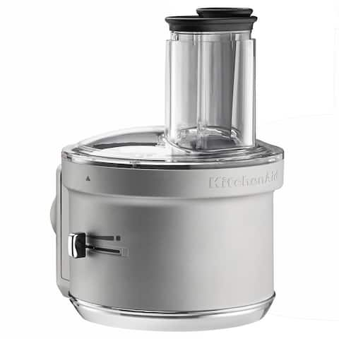 KitchenAid KSM2FPA Continuous Feed Food Processor Attachment with ExactSlice System and Commercial-Style Dicing Kit, Silver