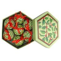 2.75 in. Holly Berry Decoupage Shatterproof Christmas Ball Ornament