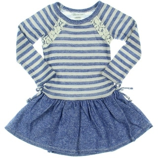 Bonnie Jean Striped Long Sleeves Sweaterdress - 4T