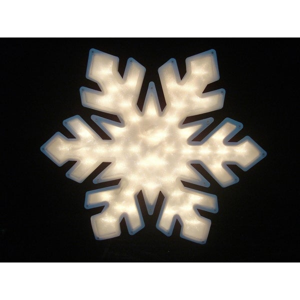 """20"""" Lighted Snowflake Double Sided Christmas Window Silhouette Decoration"""