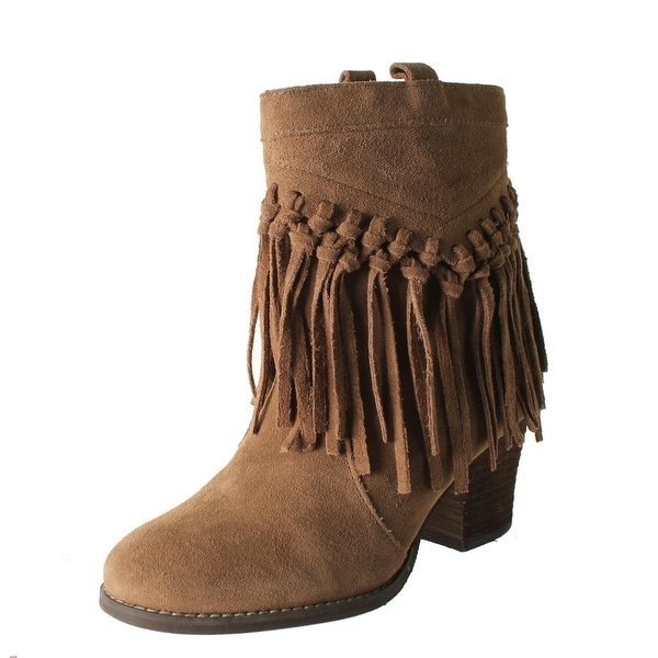 Sbicca Womens Sound Ankle Boots Suede Fringe