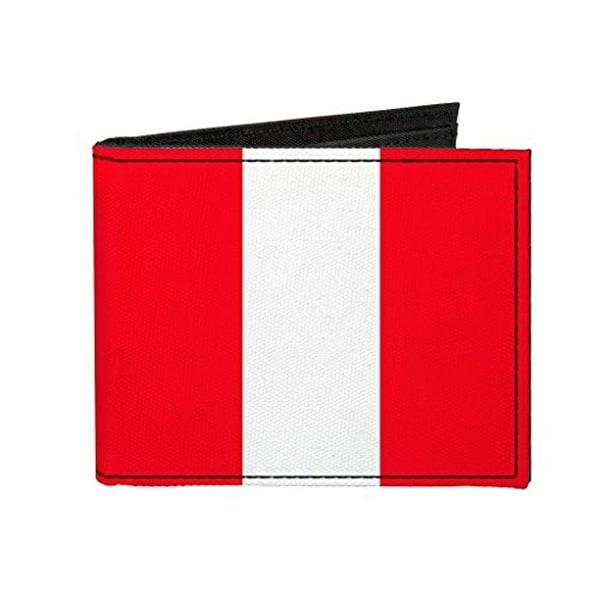 Buckle-Down Canvas Bi-fold Wallet - Peru Flag Accessory