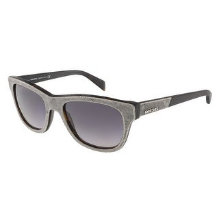 Diesel DL0111/S 52B Grey Denim/Matte Black Rectangle sunglasses - 52-18-140