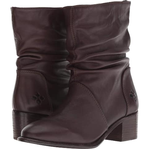 Patricia Nash Womens Monte Leather Round Toe Mid-Calf Riding Boots